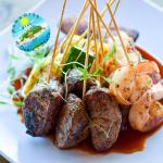 Steak and Shrimp Satays